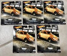 Lot Of 5: Hot Wheels Car Culture 2019 Cruise Boulevard Volkswagen Classic Bug.