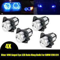 2Pair Blue Angel Eye LED Halo Ring Bulbs For BMW E90 2006 2007 2008 323i 328i