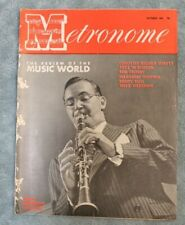Vintage Metronome Music Magazine Oct 1946 Benny Goodman Explains Jazz Big Band