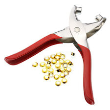 """1/4"""" Grommet Eyelet Pliers+100 Golden Grommets & Washers For Fabric,Paper,Canves"""