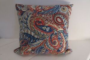 """Rare Sanderson 'Saraband' Vintage 18"""" Cushion Cover - Double Sided Zipped"""