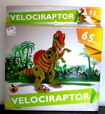 Dinosaur Puzzle Block Set - VELOCIRAPTOR - 65 piece foam block set