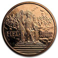 Norse Gods Series Hel - Valkyrie 1 oz .999 Copper BU Round USA Made Bullion Coin