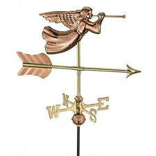 Good Directions Angel Garden Weathervane - Polished Copper w/ Roof Mount 819Pr