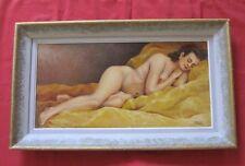 "Superbe huile de 1948 signée A.BAUDOIN "" femme nue endormie """
