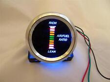 "Air/Fuel Ratio Gauge 2"" Blue LED Digital Chrome Bezel w Red/Yellow/Green Digits"