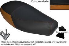 Tan & Negro Custom encaja Piaggio Vespa ET2 Et4 125 Doble Cuero Funda De Asiento