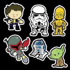 Star Wars vinyl sticker set - Han Solo Jabba R2D2 C3PO