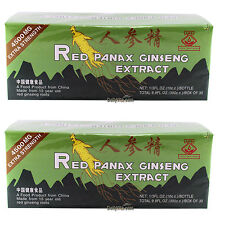 2 x Boxes Red Panax Ginseng Extract 10ml x 30 Bottles Extra Strength 100% Natual