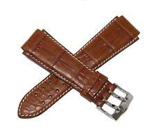 TechnoMarine Genuine Alligator 20MM Leather Watch Strap Double Buckle Brown NEW