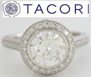 0.37 ct TACORI Starlit 306-25RD75 Platinum Round Semi-Mount Engagement Ring