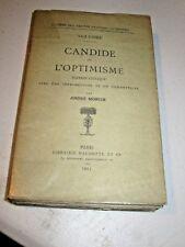 (1913) Voltaire CANDIDE OU L'OPTIMISME  critical edition André Morize  SC