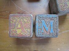 New ListingVintage/Antique Toy Children's Wooden Alphabet/Number Blocks Lot of 11