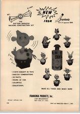 1967 PAPER AD Frankonia Toy Screw Ball Rushton Stuffed Gus the Gorilla Seymour