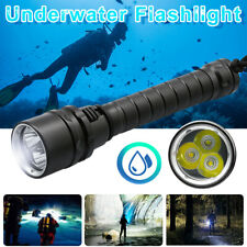 3 LED Flashlight Diving Underwater Torch Travel Outdoor Glare Waterproof US