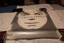 """Michael Jackson 32 1/2"""" x 26 1/2"""" Promo Window Cling-On Unused"""