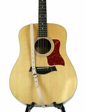 """3/4"""" Wide Beige Tanned Saddle Leather Buckle Guitar Strap"""