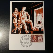 Andorra French N°183 Institution Social Card Maximum Premier Day FDC 1967