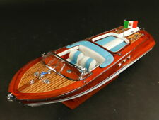 maquette riva bateau Riva Aquarama Crème  53cm entièrement Bois laiton modélisme