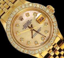 Rolex Ladies Datejust President Jubilee Gold Diamond Dial Bezel Watch
