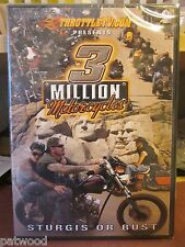 3 Million Motorcycles, Sturgis or Bust (DVD, 2011), NEW, Combined Ship Discount