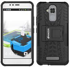 Amzer Hybrid Warrior Case Cover for ASUS Zenfone 3 Max - Black