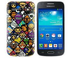 TPU Case f Samsung Galaxy Advance G350E Schutzhülle Tasche Cover Emoticons Comic