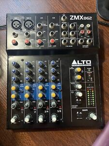 Alto ZMX862 6 Channel + Aux Sends Mixer/Mixing Desk With PSU