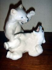 Polar Bears Cubs Playing by Knud Kyhn for Royal Copenhagen # 1107 Fact First