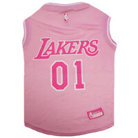 Los Angeles Lakers NBA Officially Licensed Pets First Dog Pet Mesh Pink Jersey