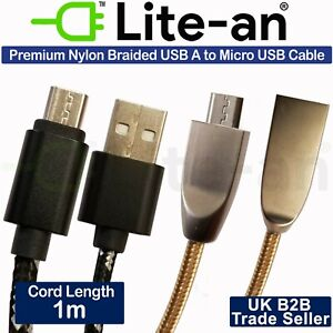 For Huawei Honor 9 Lite Micro USB Lead Fast Charge Cord Sync Wire Charger Cable