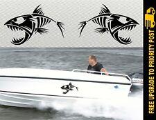 Boat Decals Stickers BIG FISH Pair 300mm ea QUINTREX STACER Tinny
