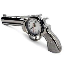 Vintage Desk Clock Alarm Novelty Pistol Gun Design Table Office Home Decor Gift