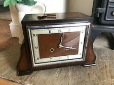 More details for british made bentima chime wooden cased mantle clock