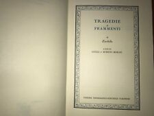 sss TRAGEDIE E FRAMMENTI, DI ESCHILO - CLASSICI GRECI UTET 1987