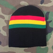 Jah Rastafari Irie Jamaica Beanie Tam Cap Africa Rasta Hat Reggae Marley S/M