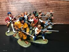 Hand Painted American Revolution Minutemen 1/32 scale 10 figures Accurate