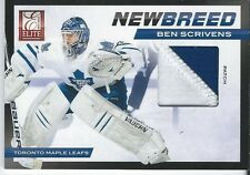 2011-12 Panini Elite BEN SCRIVENS Rookie New Breed #50 23/25 Patch Jersey Goalie
