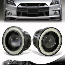 """3"""" White Angel Eyes Halo Projector Lens LED COB Bulb DRL Fog Light Kit For Audi"""