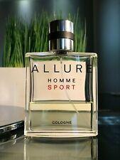 Chanel Allure Homme Sport Cologne EDT Spray 100ml 3.4 oz ~ 40% Full