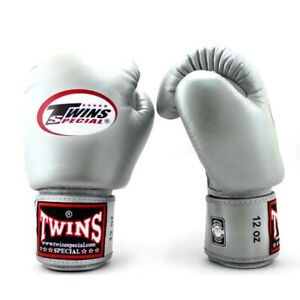 Twins Boxing Gloves BGVL3 Silver boxing Training Sparring Muay Thai Kickboxing