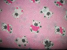 ZEBRA PRINT BEAR 100% COTTON FABRIC BTY/SEWING CRAFT SUPPLIES/NURSERY PRINT