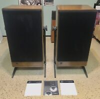 Vintage ADS MODEL 910 Speaker System-RARE!-Clean! Sounds Incredible! W/Stands!