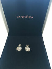 Pandora sterling silver 1 pair signature earrings S925 Ale 290559cz