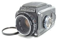 Near Mint Zenza Bronica S2A Black Late Model Camera w/Nikkor P 75mm f/2.8 #1211