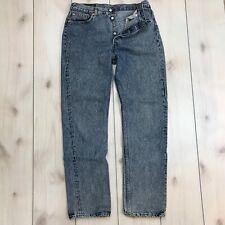 Vintage Levi's 501 35W 34L USA Made Button Fly Blue Jeans Acid Wash