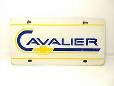 Rare Vintage Chevrolet Cavalier Steel Dealer Showroom Booster License Plate