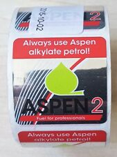 Aspen 2 fuel stickers to use on 2-stroke products (Quantity 100)