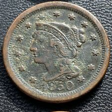 1850 Large Cent Braided Hair One Cent 1c Better Grade #25966