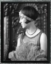 Stunning... Art Deco Flapper Era Woman Portrait Photo . Antique 8x10 Photo Print